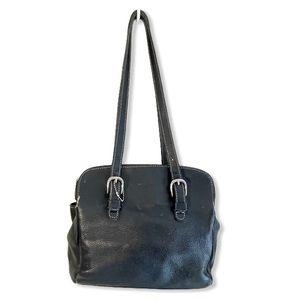 Roots Purse Shoulder Bag Pebbled Leather